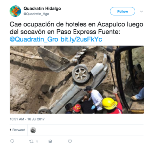 highway collapse mexico